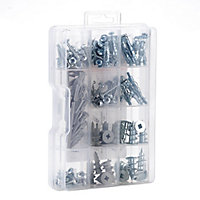Handy to have 100 piece Plasterboard Fixing selection kit