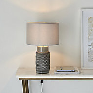 Harbour Studio Viola Imprinted Matt Grey Table light