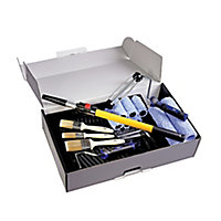 "Harris Trade Big box 9"" Medium pile Roller set, 18 pieces"