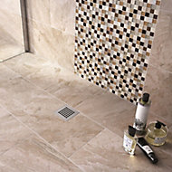 Haver Sand Matt Travertine Stone effect Ceramic Wall & floor tile, Pack of 6, (L)300mm (W)600mm
