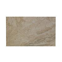 Haver Sand Matt Travertine Stone effect Ceramic Wall & floor Tile, Pack of 6, (L)498mm (W)298mm