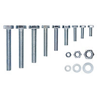 Hex Bolt, nut & washer, Pack of 500
