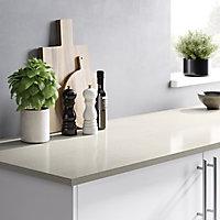 HI-MACS 20mm Matt Sand beige Stone effect Acrylic Square edge Kitchen Worktop, (L)2200mm