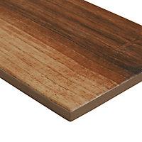 High gloss Walnut Gloss Wood effect Porcelain Wall & floor Tile Sample