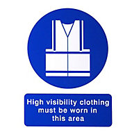High visibility vest Self-adhesive labels, (H)200mm (W)150mm