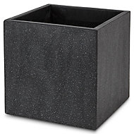 Hoa Dark grey Concrete effect Fibreclay Plant pot (Dia)40cm