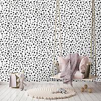 Holden Décor Black & white Dalmatian Smooth Wallpaper