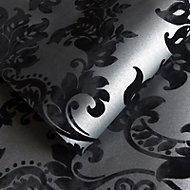 Holden Décor Clara Black Glitter effect Wallpaper