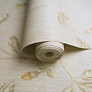 Holden Décor Lia Beige & yellow Floral trail Smooth Wallpaper