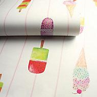 Holden Décor Multicolour Lollipops Smooth Wallpaper
