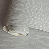 Holden Décor Statement Grey Chevron Glitter effect Textured Wallpaper