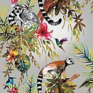 Holden Décor Statement Multicolour Lemur Metallic effect Smooth Wallpaper