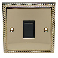 Holder 10A 2 way Brass effect Single Intermediate switch