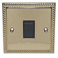 Holder 10A 2 way Polished brass effect Single Light Switch