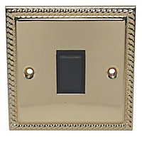 Holder 10A 2 way Polished brass effect Single Light Switch
