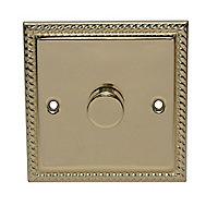Holder 2 way Single Brass effect Dimmer switch