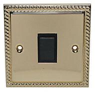 Holder Brass effect 10A Single 2 way Screwed Intermediate switch