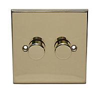 Holder Brass effect Single 2 way Dimmer switch