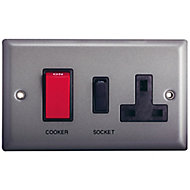 Holder Grey pewter effect 45A Cooker Switch