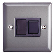 Holder Grey pewter effect Single 13A Switch