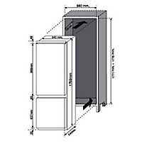 Hoover BHBF182NUK 70:30 White Integrated Fridge freezer
