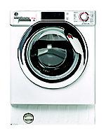 Hoover HBDOS695TAMCE80 White Built-in Condenser Washer dryer, 8kg/5kg