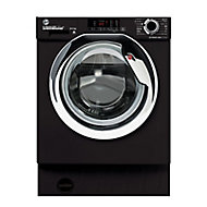 Hoover HBDS485D1ACBE-80 Black Built-in Condenser Washer dryer, 8kg/5kg