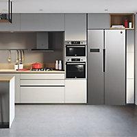 Hoover HHSBSO 6174XK American style Stainless steel Freestanding Fridge freezer