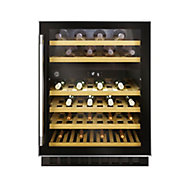 Hoover HWCB60 UK/N Black Stainless steel effect 46 bottles Wine cooler