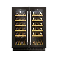 Hoover HWCB60D UK/N Black Stainless steel effect 38 bottles Wine cooler