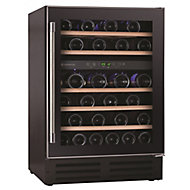 Hoover HWCB60UK Black Stainless steel effect 46 bottles Wine cooler