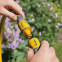 Hozelock Double male Yellow Hose pipe connector