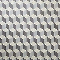 Hydrolic Black & white Matt 3D Concrete effect Porcelain Floor tile, Pack of 25, (L)200mm (W)200mm