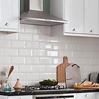 Hydrolic Black & white Matt Calisson Concrete effect Porcelain Floor tile, Pack of 25, (L)200mm (W)200mm