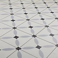 Hydrolic Black & white Matt Calisson Concrete effect Porcelain Wall & floor Tile, Pack of 25, (L)200mm (W)200mm