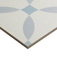 Hydrolic Blue Matt Calisson Porcelain Wall & floor Tile, Pack of 25, (L)200mm (W)200mm