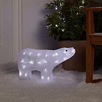 Ice white LED Polar bear Silhouette
