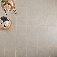 Ideal Beige Matt Marble effect Ceramic Floor tile, Pack of 13, (L)338mm (W)338mm