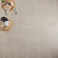 Ideal Beige Matt Marble effect Ceramic Wall & floor Tile, Pack of 13, (L)338mm (W)338mm