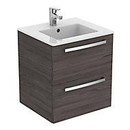 Ideal Standard Grey Wall-mounted Vanity unit & basin set (W)510mm (H)565mm