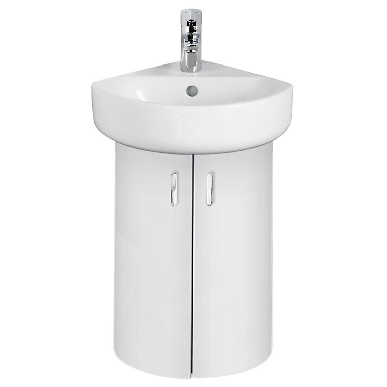 Ideal Standard Imagine Compact White, Bathroom Corner Sinks And Vanities