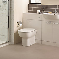 Ideal Standard Studio echo Contemporary Back to wall Boxed rim Toilet set with Soft close seat