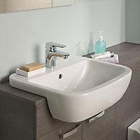Ideal Standard Tempo D-shaped Semi-recessed Basin