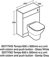 Ideal Standard Tesi Contemporary Back to wall Rimless Toilet set with Soft close seat