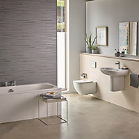 Ideal Standard Tesi Contemporary Wall hung Rimless Toilet with Soft close seat