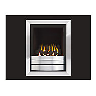 Ignite Easton Landscape High Efficiency Graphite Chrome effect Gas Fire