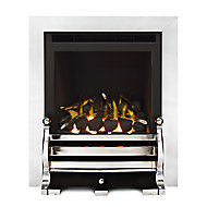 Ignite Fairfield Glass Fronted Chrome effect Gas Fire