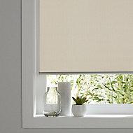 Ilas Corded Cream Plain Blackout Roller Blind (W)90cm (L)180cm