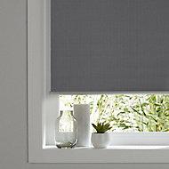 Ilas Corded Grey Plain Blackout Roller Blind (W)160cm (L)180cm