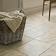 Illusion Grey Matt Patterned Stone effect Ceramic Floor tile, Pack of 10, (L)360mm (W)275mm